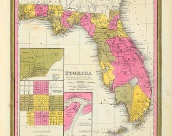 1846 Map of Florida