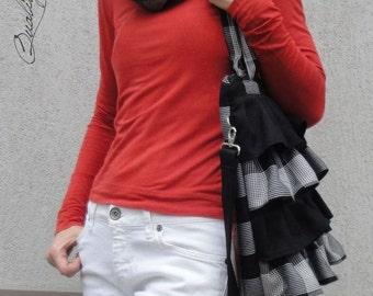 Messenger Bag and Tote Bag - Customizable for Color Fabric and Size - Shoulder Bag - Everyday bag -  big HIDDEN Pocket