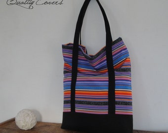 Tote Bag - Customizable for Color Fabric BagEveryday Bag / 17'' Laptop Bag / Unique women bag - 2 Straps - Padded - 7 Pockets