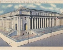 General Post Office Building - 8th & 31st st - New York City - Vintage Postcard