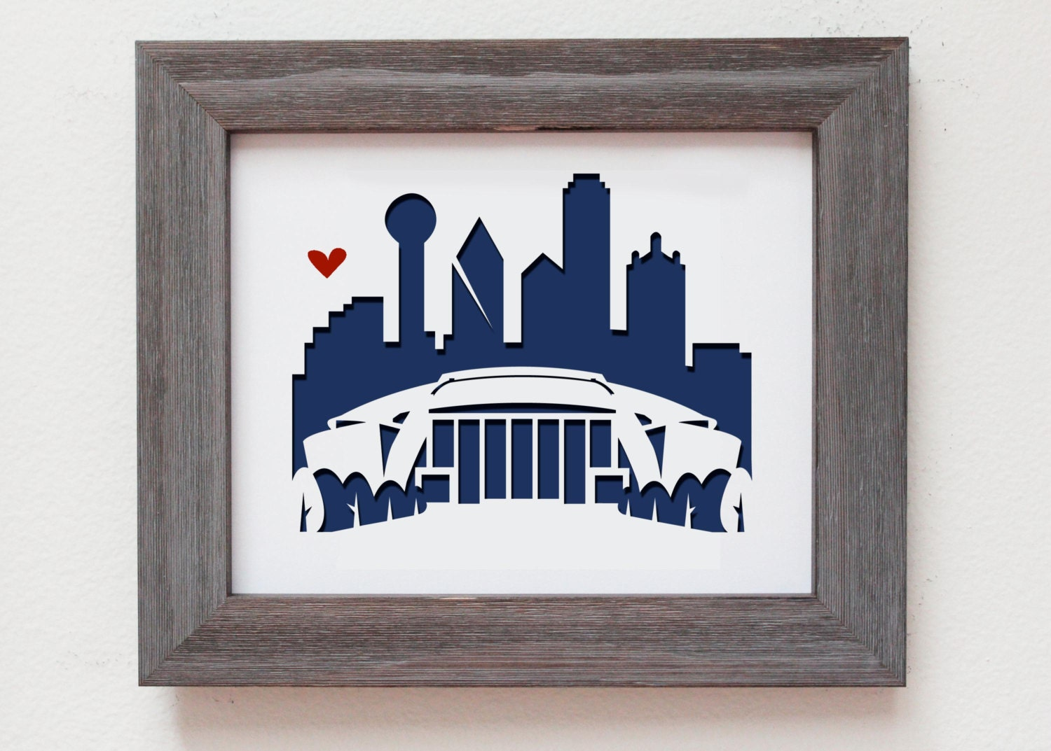 Unique Wedding Gifts Dallas : Dallas Texas AT&T stadium Personalized Gift or Wedding