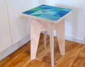 Objectify Printed Square Side Table