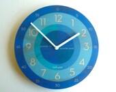Objectify Blue Time Teacher Wall Clock - Medium Size