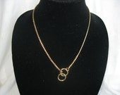 """20"""" Gold Necklace, Snake Chain Necklace, Choke Chain Necklace"""