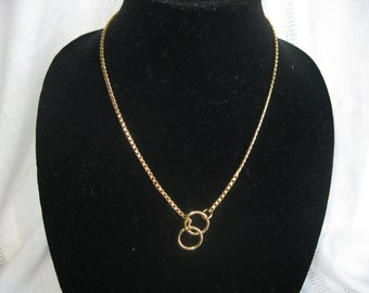 "20"" Gold Necklace, Snake Chain Necklace, Choke Chain Necklace"