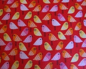 New Kokeshi Birds in Rainbow by Suzy Ultman for Robert Kaufman Fabrics (1 yard) BUY MORE & SAVE