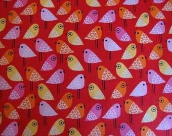 SALE Kokeshi Birds in Rainbow by Suzy Ultman for Robert Kaufman Fabrics (1 yard)