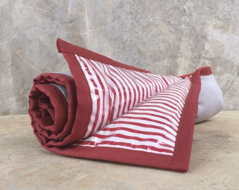 Padded Changing Pad w elastic strap / Easy to Clean / Grey with Burnt Orange Accent / HighpantsBaby / mrHighpants