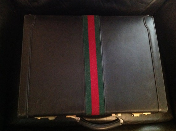 Vintage gucci briefcase red leather