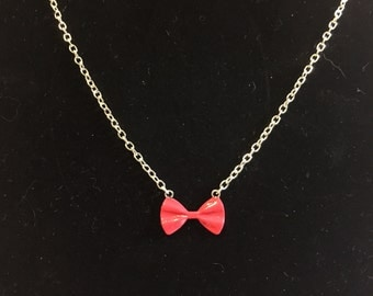 11th Doctor red bow tie necklace