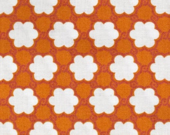 17008 -   Annette Tatum Bohemian  Collection Clover in orange  color- 1 yard