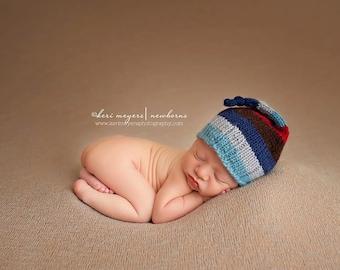 Jewels Striped Night Cap - newborn hat