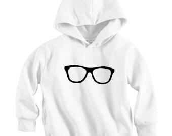 Reading Glasses - Long sleeve Hoodie Shirt (Baby / Infant / Toddler / Children's)