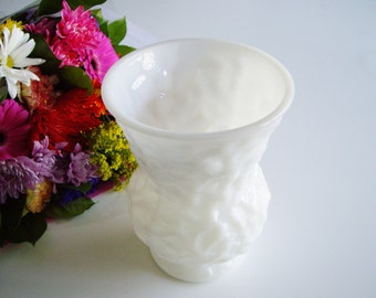 Milk Glass Vase - Large - Bumpy Pattern - EO Brody