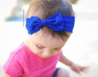New { the Addy } Royal lace bow headband . Newborn, toddler, child, teen, adult