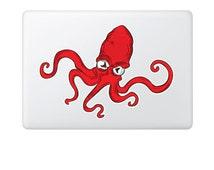 Squid macbook decal