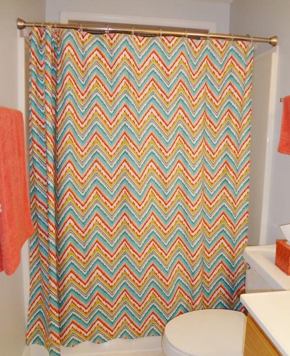 Items similar to shower curtain dena design charade for Zig zag bathroom decor