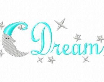 Dream-Moon - Machine Embroidery Design - 7 Sizes