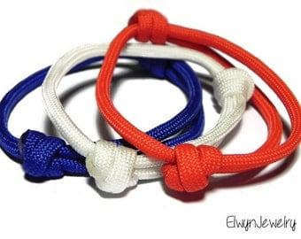3 Paracord Bracelets, Men's Bracelet, Boy Bracelet, Simple Cord Bracelet, Black Cord Bracelet, Stacking Bracelets, Adjustable Bracelet