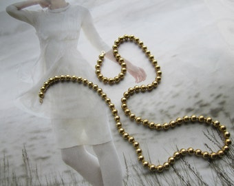 """Vintage 4mm Brass Ball Chain 18"""" Length 1Pc."""