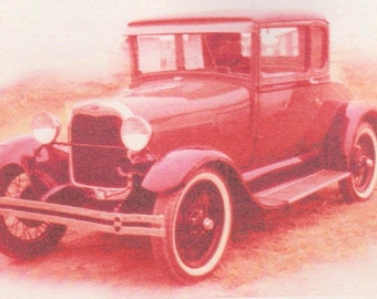 "ACEO photo ""Rosy"" model T car"
