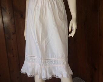 Vintage 2 Pink Lace Trimmed Half Slips, Vintage Lingerie, Vintage Clothing