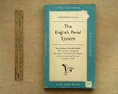 1950s vintage pelican book on The English Penal System penguin paperback