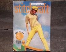 Stitchcraft magazine June 1967 vintage 1960s knitting 1960s needlework