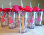 1 Personalized Bridesmaid, Bride, Ring Bearer, Flower Girl Acrylic Tumbler (BPA-free)