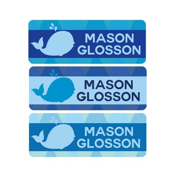 Boys Premium Name Labels: Boy Daycare Labels Boy Bottle Name Labels Waterproof Daycare