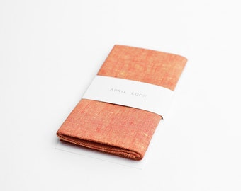 Men's pocket square, orange yellow