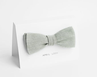 Sage bow tie, grey sage - double sided, MADE TO ORDER