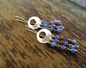 Tanzanite Earrings - December Birthstone Jewelry - Sterling Silver - Purple Gemstone Jewellery - Luxe 925