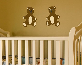 Teddy Bears wall decal set