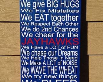 KU Jayhawks House Rules