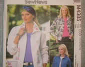 OOP McCall's Womens Sewing Pattern M4385  size  10 - 12 - 14 - 16  Uncut