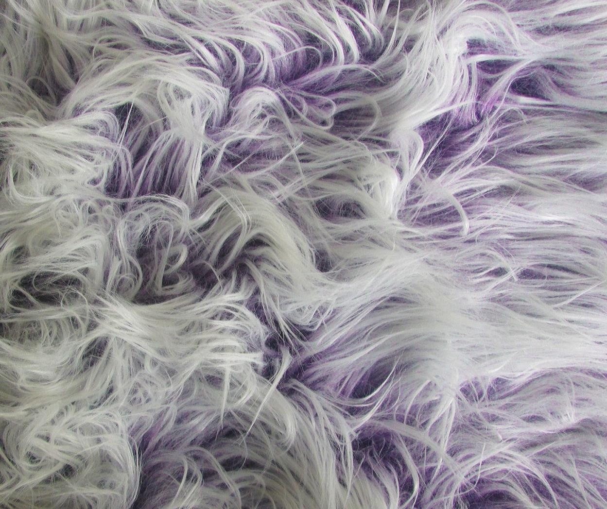Purple Frosted Mongolian Fake Faux Fur Upholstery Fabric By