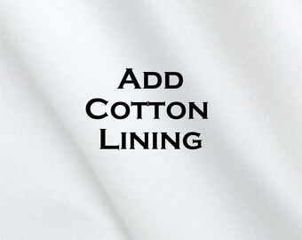 Cotton Lining- Add to Your Curtain Order- Lined Curtains- Drapery Lining- Lined Window Treatments- Lined Cafe Curtains- Custom Size- Roc-Lon
