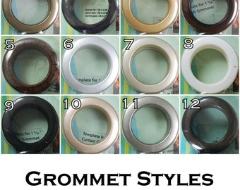Grommets- Add to Curtain Panels or Valance- 25 or 50 inch Width- Custom Window Treatments- Modern Grommet Top Drapes- 63, 84, 96, 108 inches
