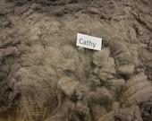 SALE - Coated Romney Fleece - Gray Raw Wool ~  5.5 Pounds - Very Clean Fleece