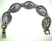 Vintage Sterling Beau Intertwining Filigree Bracelet