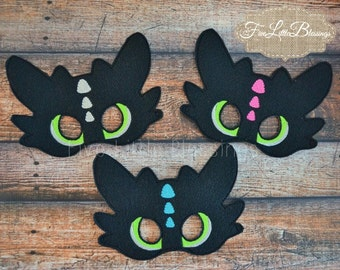 Toothless - Dragon - mask - pretend play - birthday gift - party favor - girl - boy - costume -