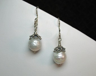 Pearl Earrings in Silver