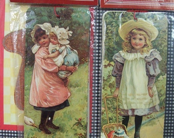 Victorian Gift Tag Bookmarks Crica 1984 R Shackman New in Package Set of 12