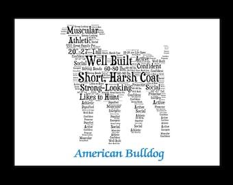 American Bulldog,American Bulldog Art,American Bulldog Artwork,American Bulldog Print,American Bulldog Lover,American Bulldog Gift