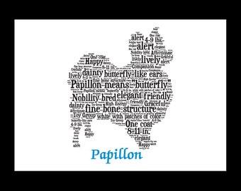 Papillon, Papillon Art, Papillon Artwork, Papillon Print, Papillon Lover, Papillon Gift