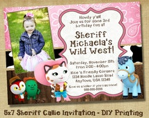 Sheriff Callie's Wild West - Custom Photo Invitation -  Birthday Party Invite Printable - DIY Printing - Cowgirl Party