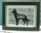 Dog Art, Custom Dog Art in Frame, Cat Art, Dog Frame, Cat Frame, Dog Gift, Dog Memorial, Cat Gift, Cat Memorial, Dog Lover, Cat Lover