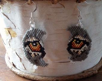 Wolf Eye Moon Earrings Clearance Sale 11.00