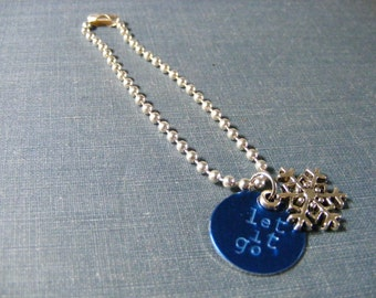 Let it Go:  Handstamped Snowflake Planner Charm